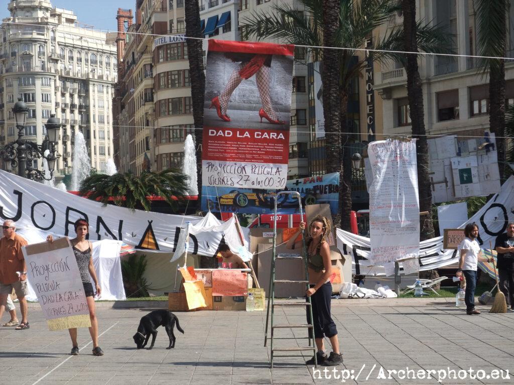 movimiento 15M en València, por Archerphoto, fotógrafo profesional asamblea
