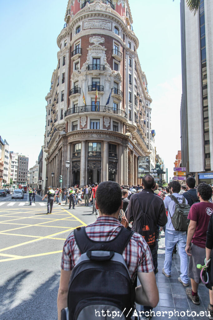 movimiento 15M en València, por Archerphoto, fotógrafo profesional