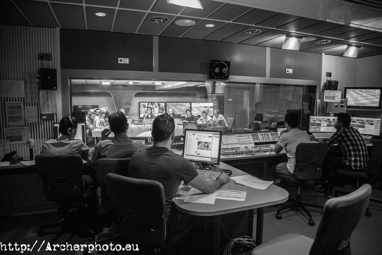 Más fotos en la radio: Carrusel Deportivo, fotos en Madrid,