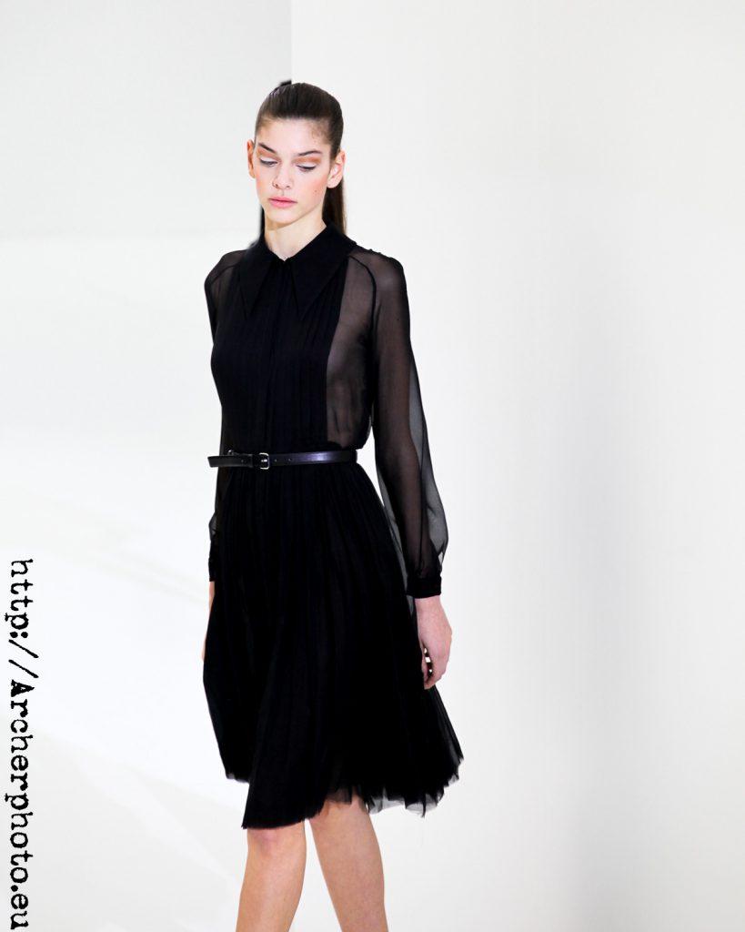 Marta Ortiz, modelo española, en un desfile de Juan Vidal