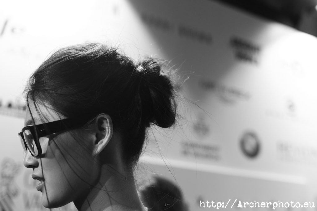Emma Xie en un desfile de moda en 2011, por Archerphoto fotografos Valencia