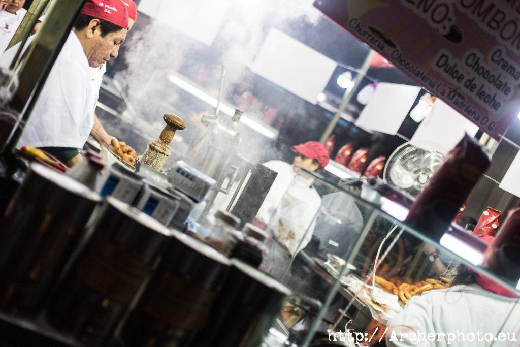 Churros, buñuelos y humo, por Archerphoto