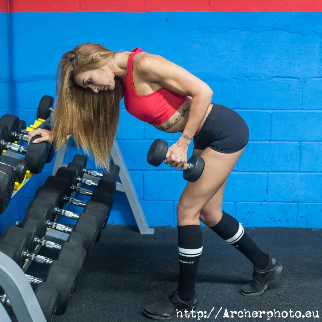 Fotografía fitness: María Herranz entrenando en Torrent, València.
