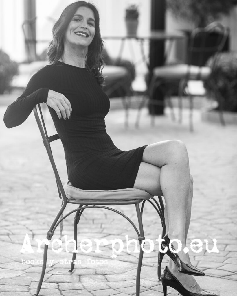 Ellianne en blanco y negro, retrato de Archerphoto, imágenes para Instagram