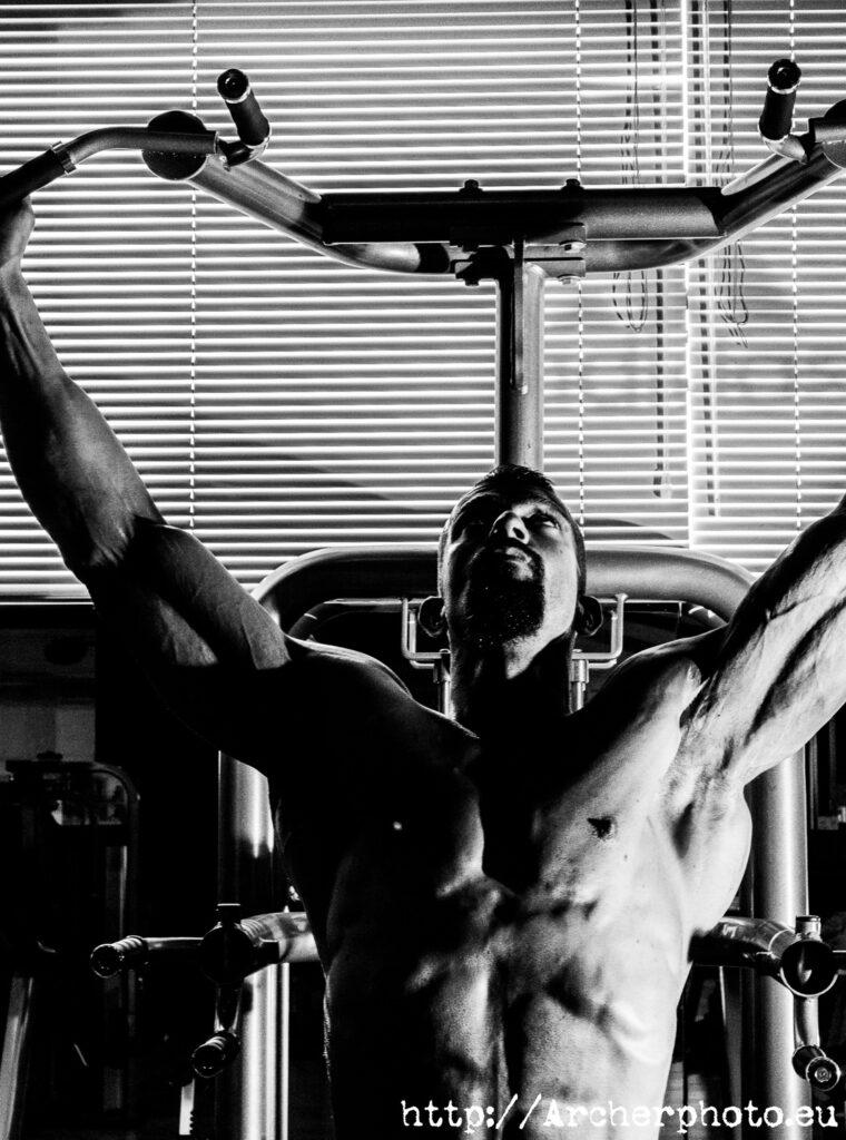 Samuel Solanot, una imagen de muestra para mi página de book de fotos fitness, por Archerphoto, fotógrafo València.