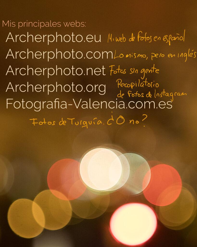 Imagen con mis webs para post de autobombo en mi blog de fotografía en español, Sergi Albir, Archerphoto, fotógrafo profesional en València.