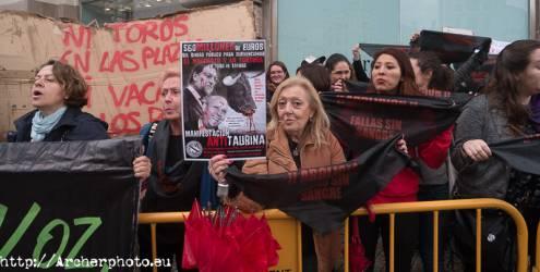Manifestación antitaurina en Valencia, por Archerphoto, fotografo profesional
